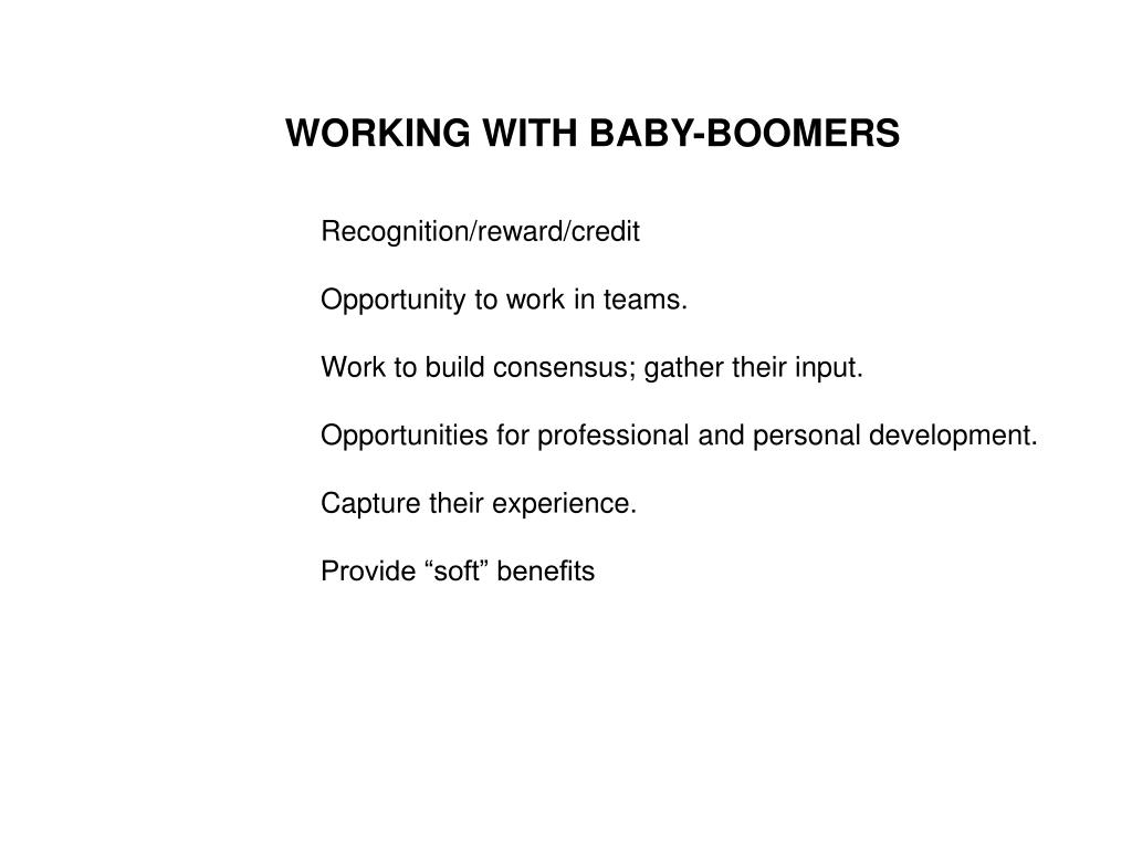 WORKING WITH BABY-BOOMERS