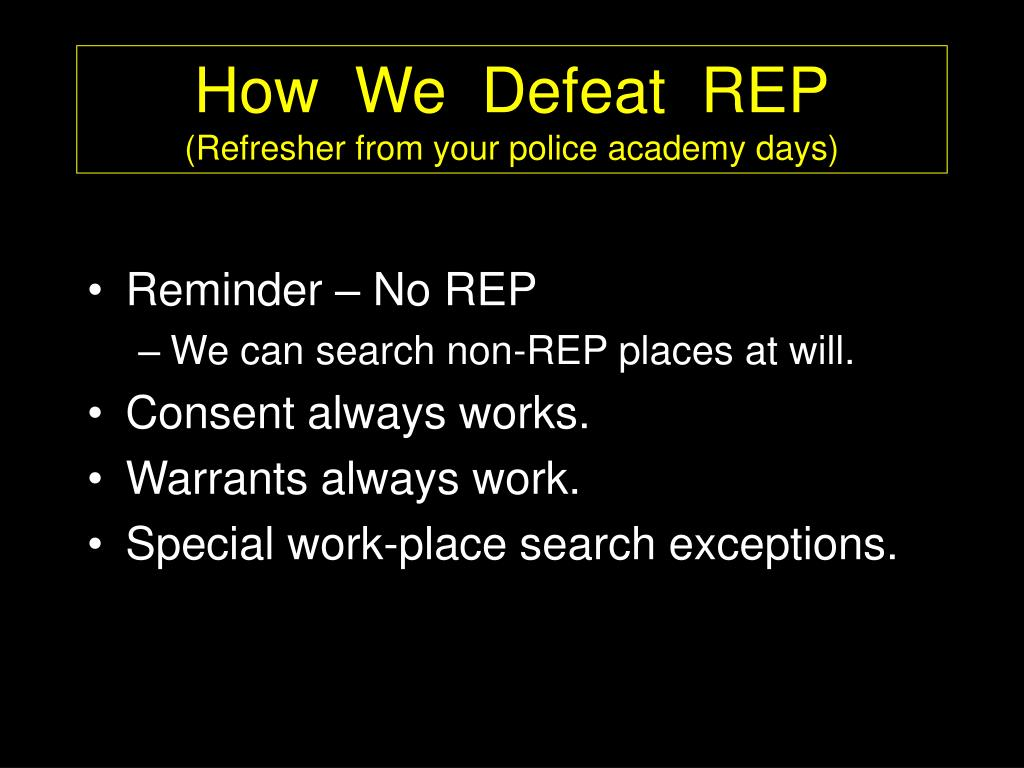 How  We  Defeat  REP