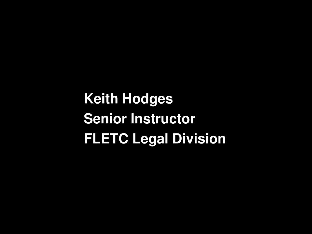 Keith Hodges