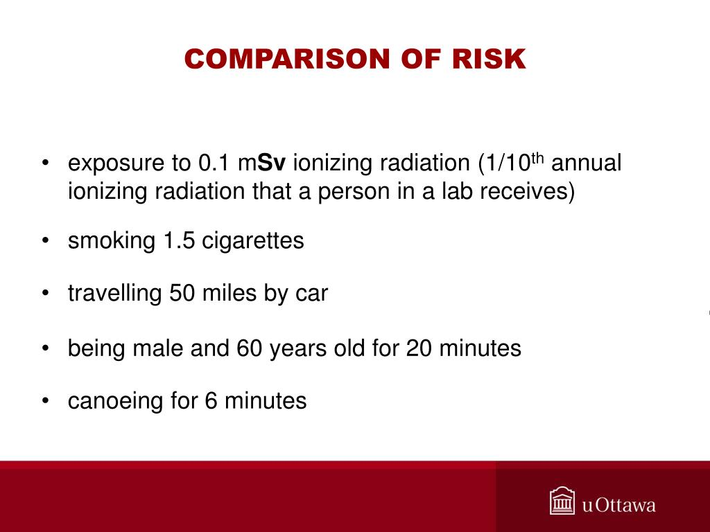COMPARISON OF RISK