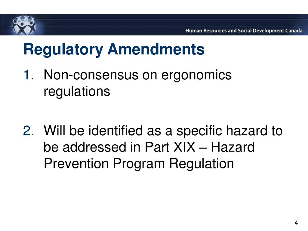 Regulatory Amendments