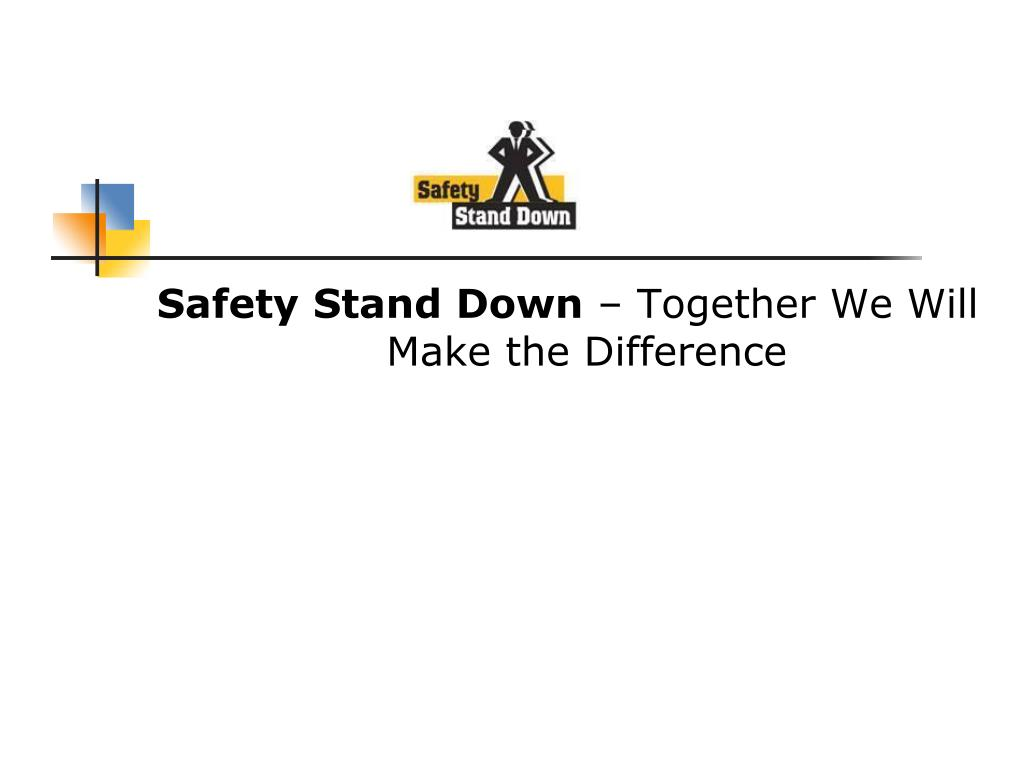 Safety Stand Down