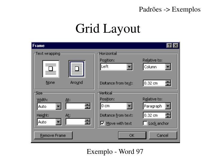Padrões -> Exemplos
