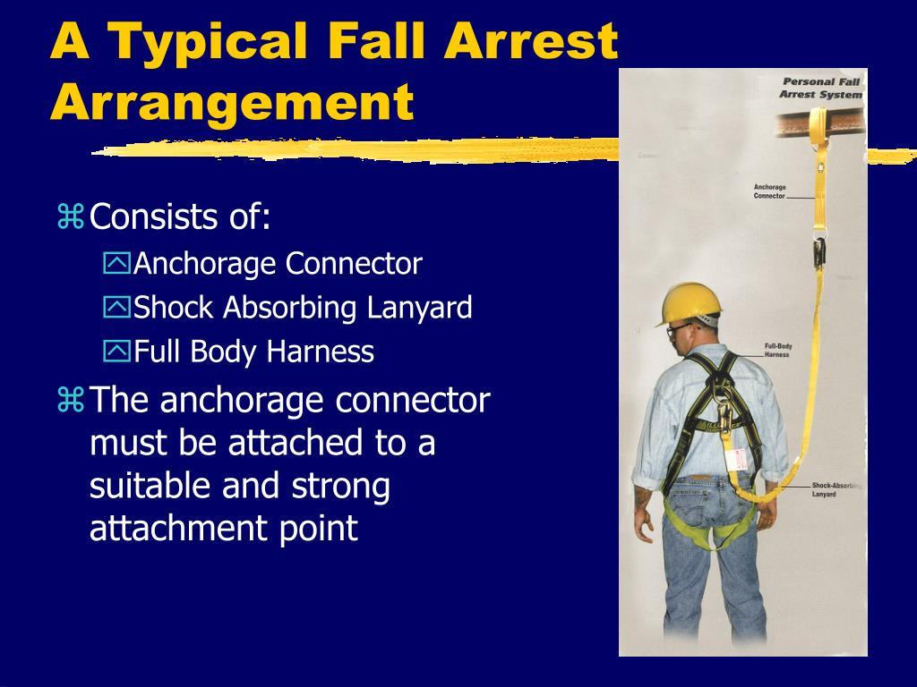 A Typical Fall Arrest Arrangement