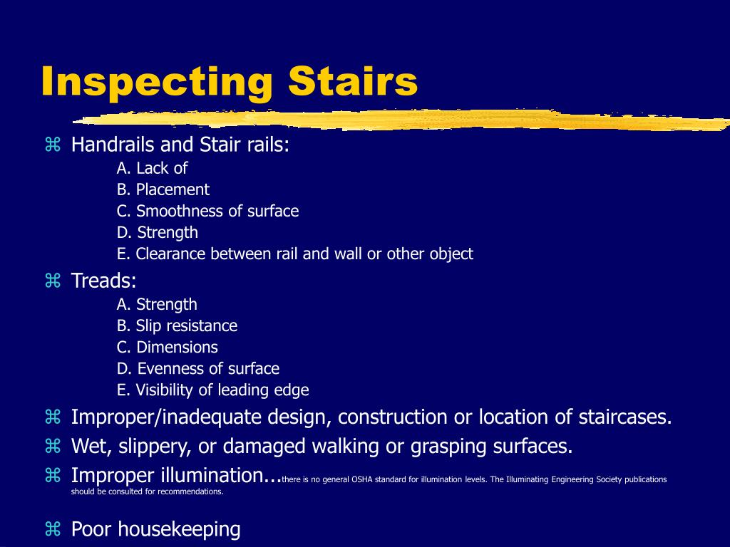 Inspecting Stairs