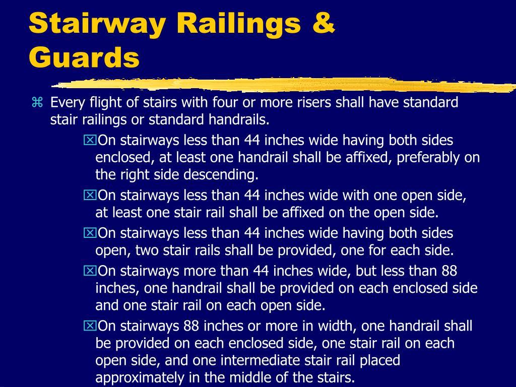 Stairway Railings & Guards