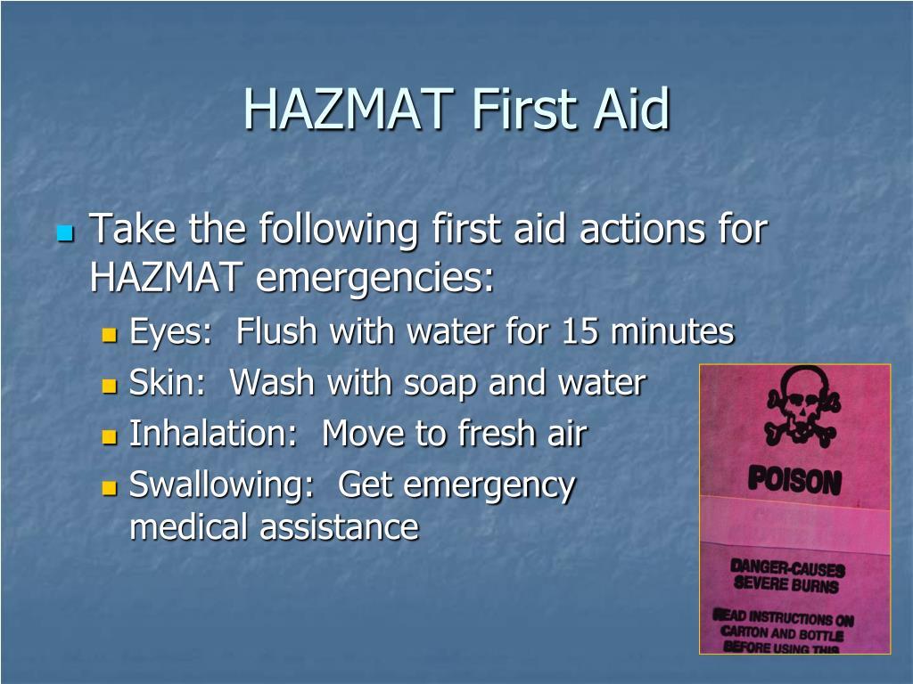 HAZMAT First Aid