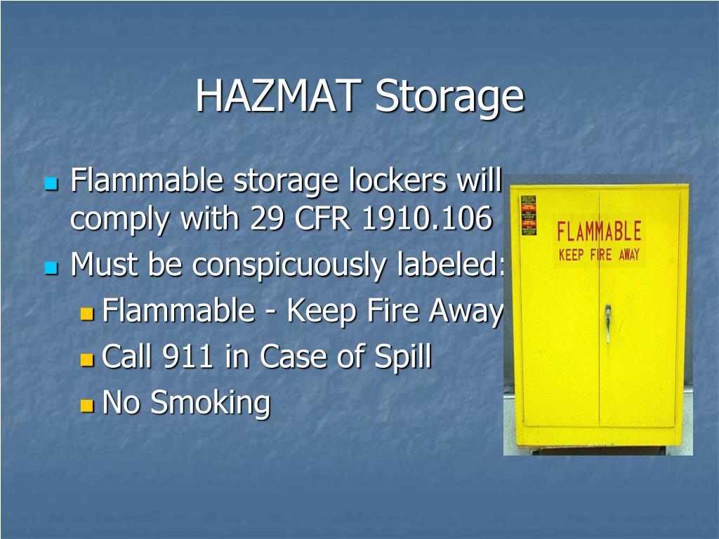 HAZMAT Storage