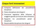 cinque forti innovazioni