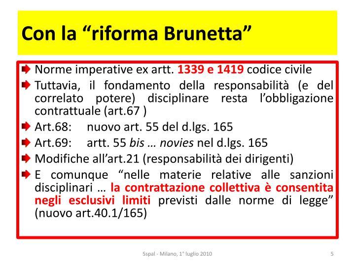 """Con la """"riforma Brunetta"""""""
