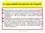 la responsabilit disciplinare dei dirigenti