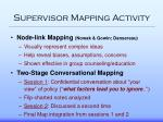 supervisor mapping activity
