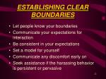 establishing clear boundaries