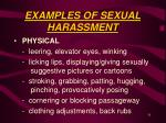 examples of sexual harassment31