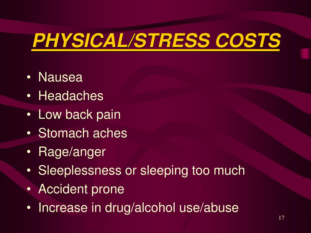 PHYSICAL/STRESS COSTS