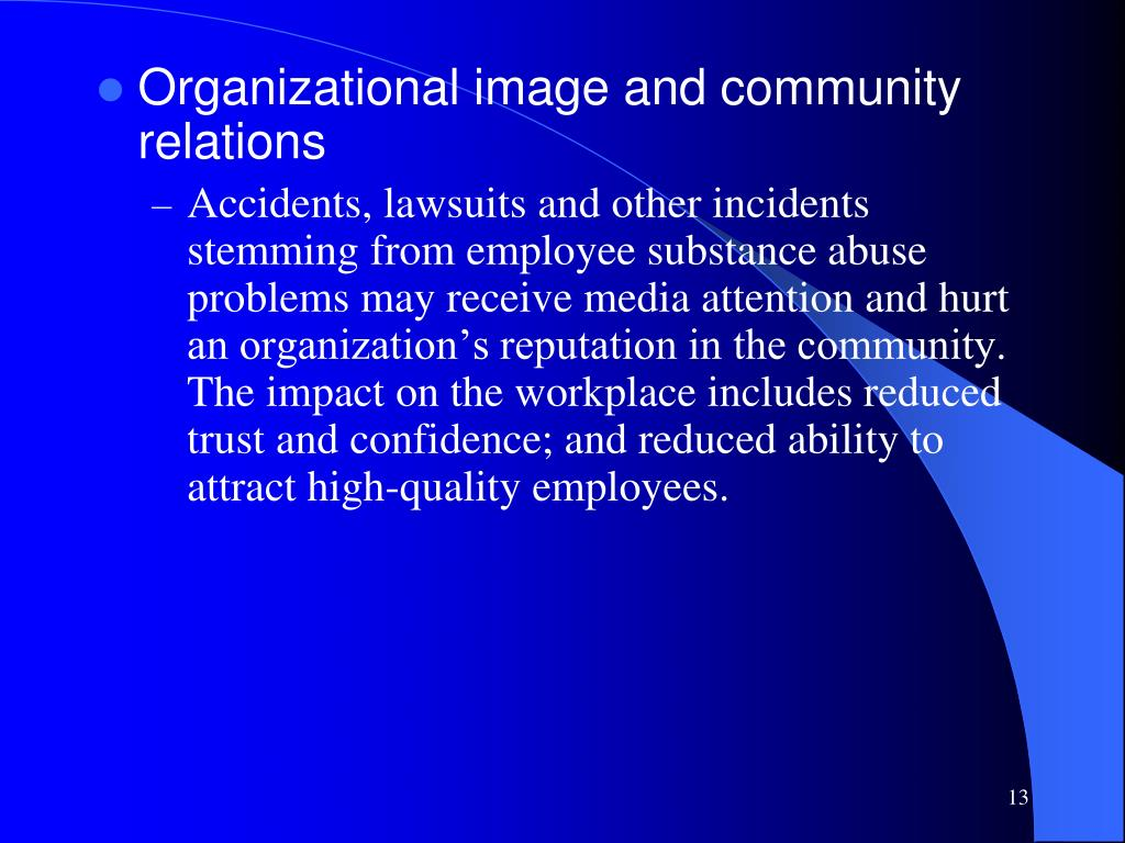 Organizational image and community relations