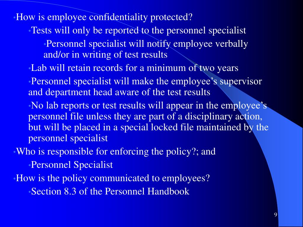 How is employee confidentiality protected?