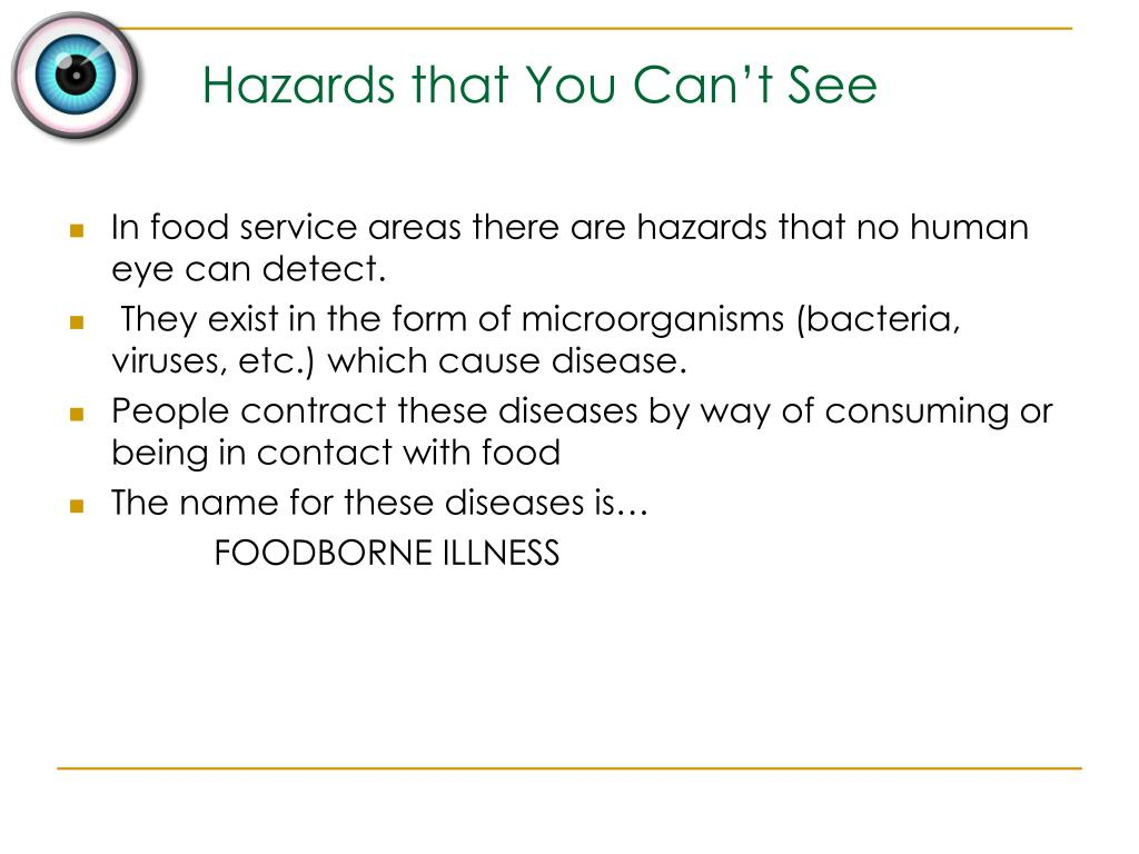 Hazards that You Can't See