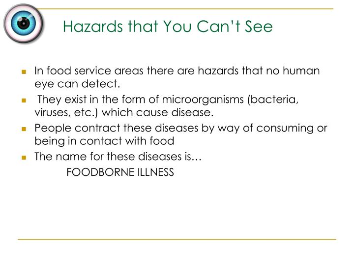 Hazards that you can t see