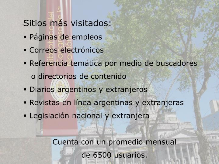 Sitios ms visitados: