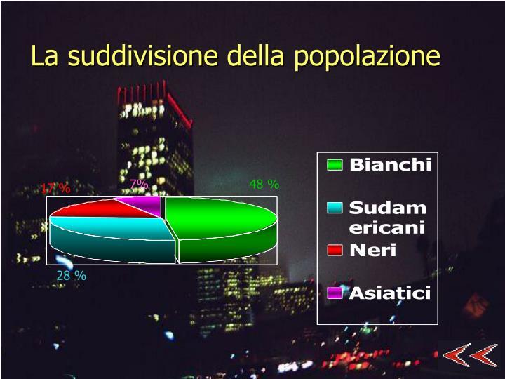La suddivisione della popolazione