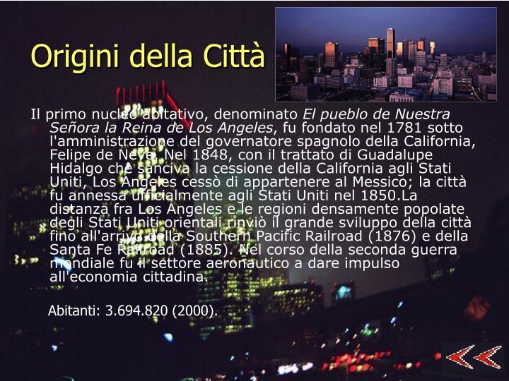 Origini della Città