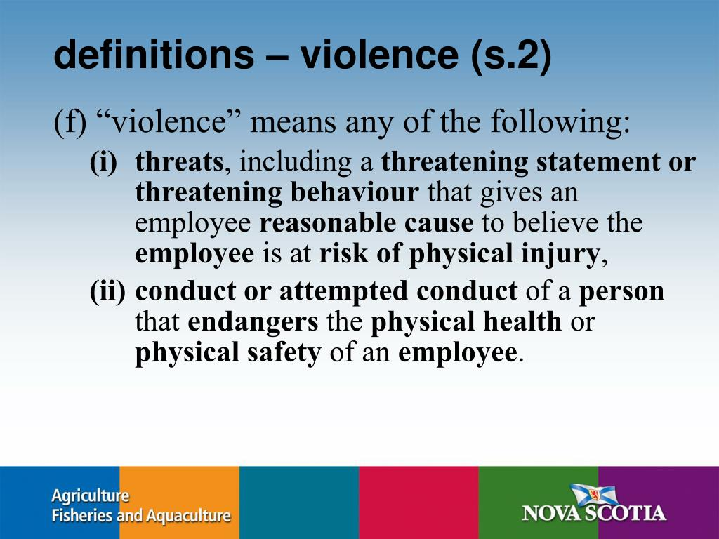 definitions – violence (s.2)