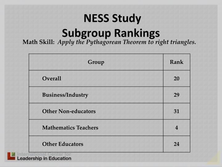 NESS Study