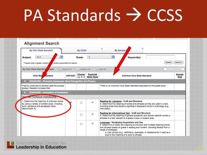 PA Standards