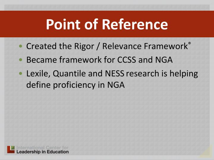 Created the Rigor / Relevance Framework