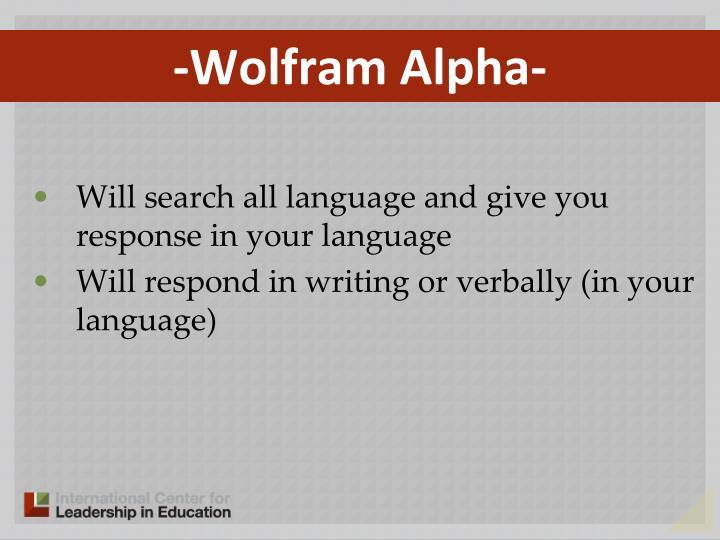 -Wolfram Alpha-
