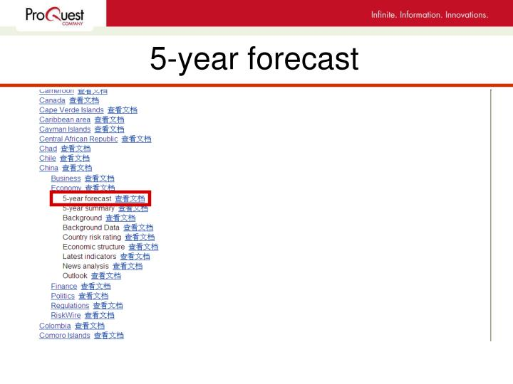 5-year forecast