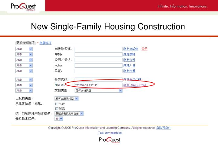 New Single-Family Housing Construction