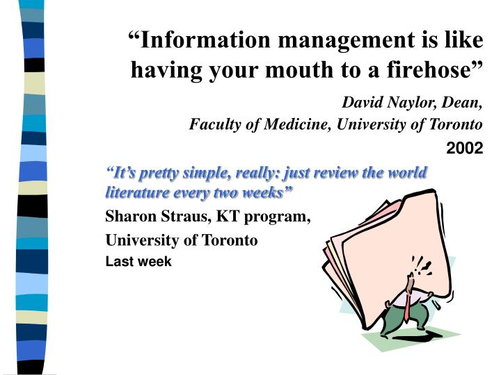"""Information management"