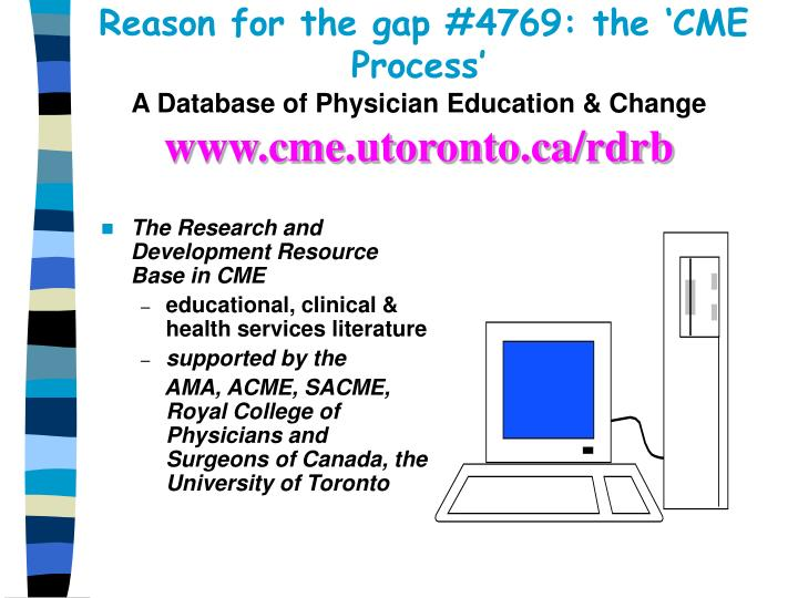 Reason for the gap #4769: the 'CME Process'