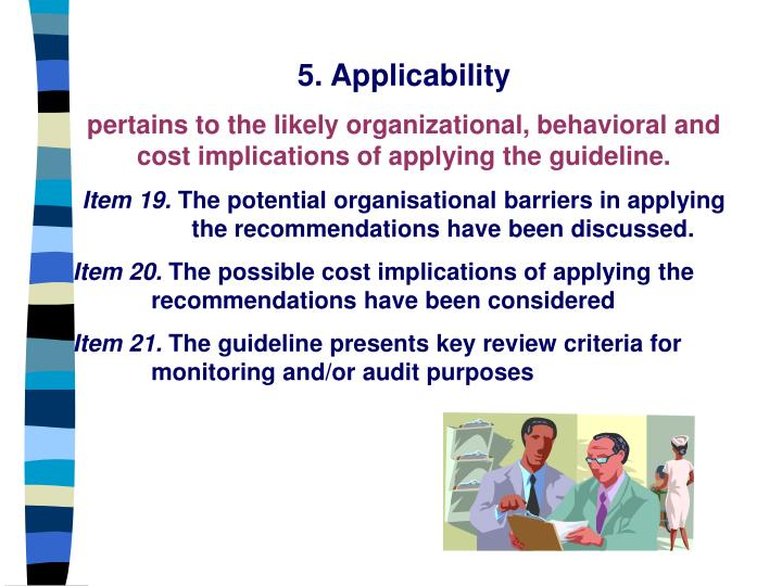 5. Applicability