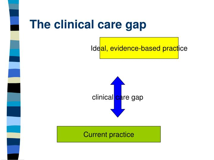 The clinical care gap