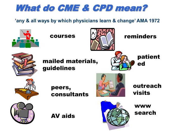 What do CME & CPD mean?