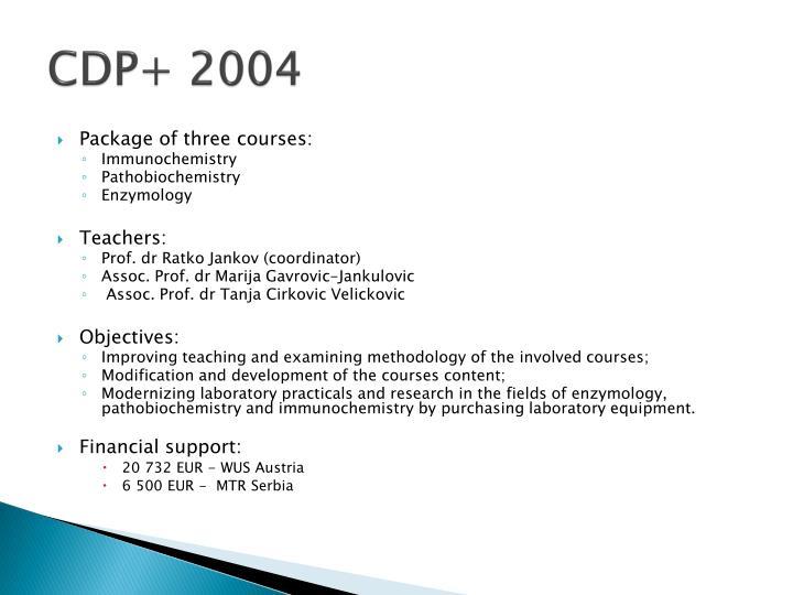 CDP+ 2004
