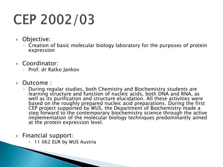 CEP 2002/03