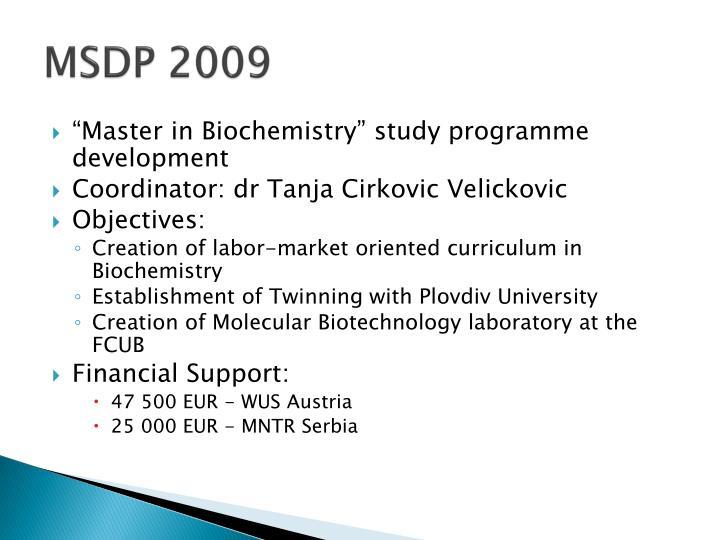 MSDP 2009