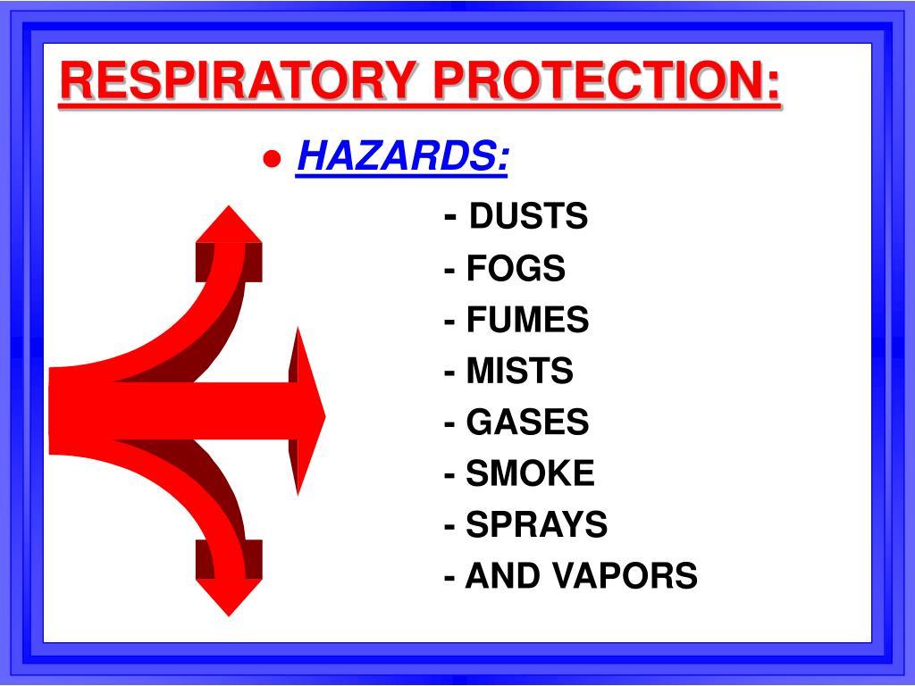RESPIRATORY PROTECTION:
