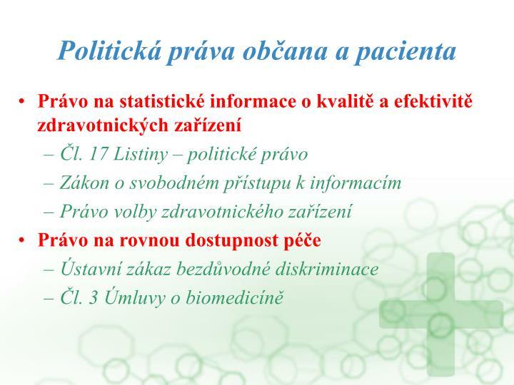 Politická práva občana a pacienta