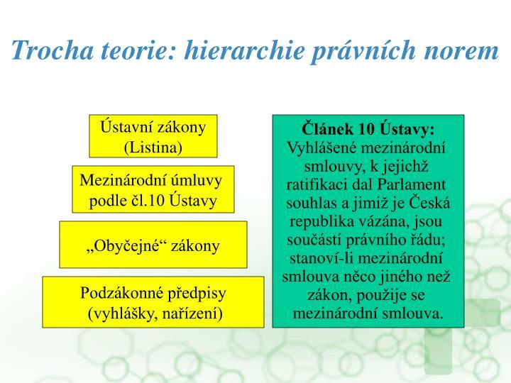 Trocha teorie: hierarchie právních norem