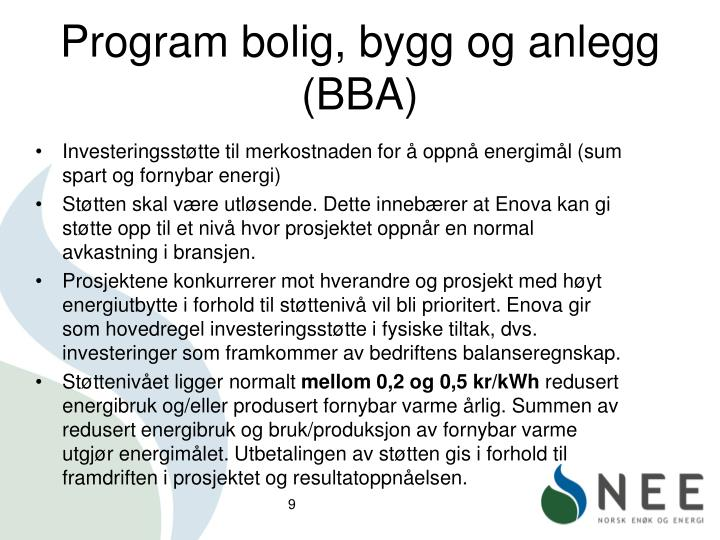Program bolig, bygg og anlegg (BBA)