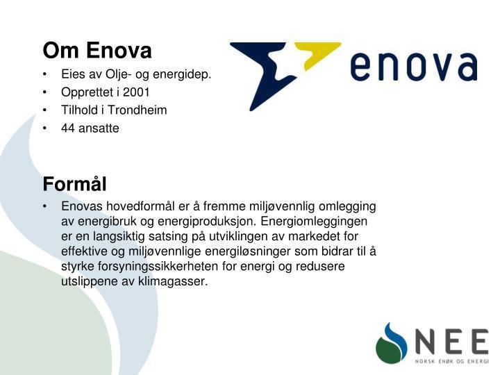 Om Enova