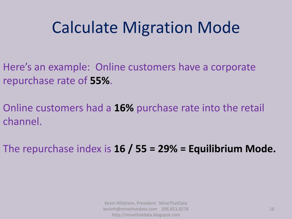 Calculate Migration Mode