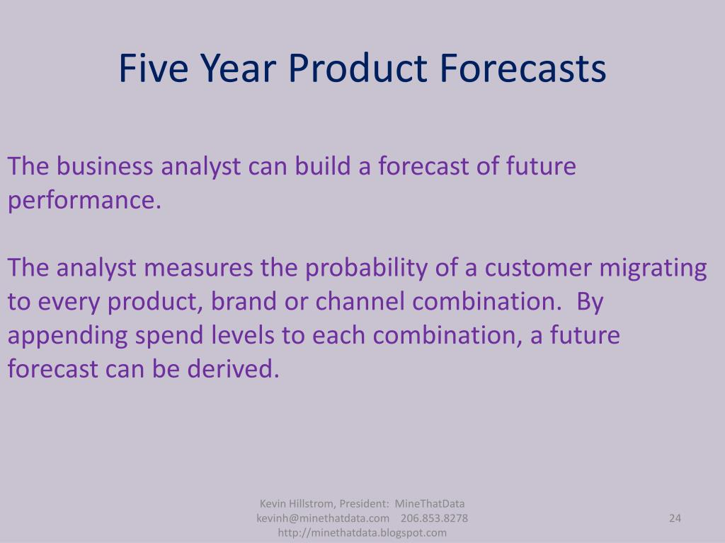 Five Year Product Forecasts