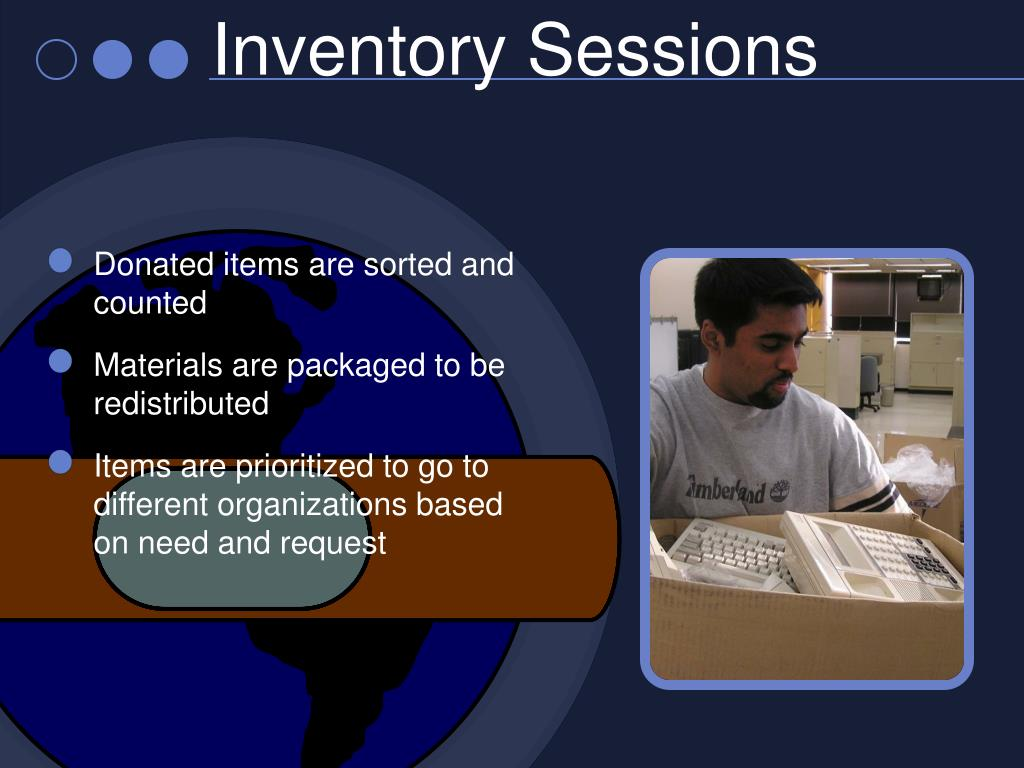 Inventory Sessions