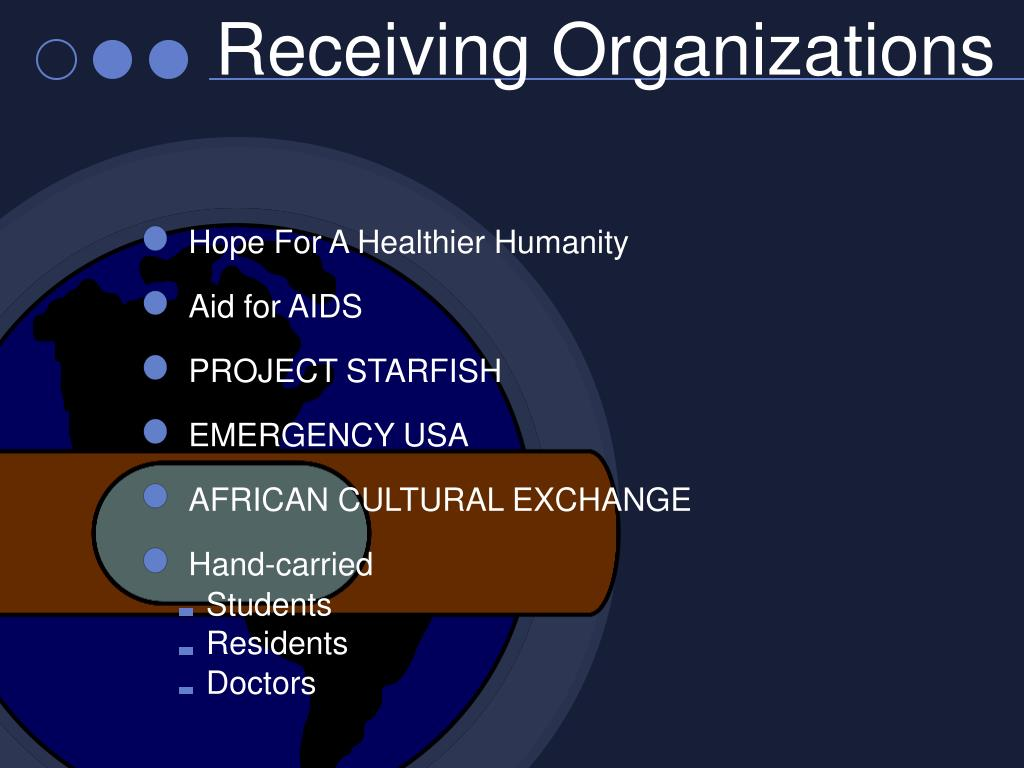 Receiving Organizations